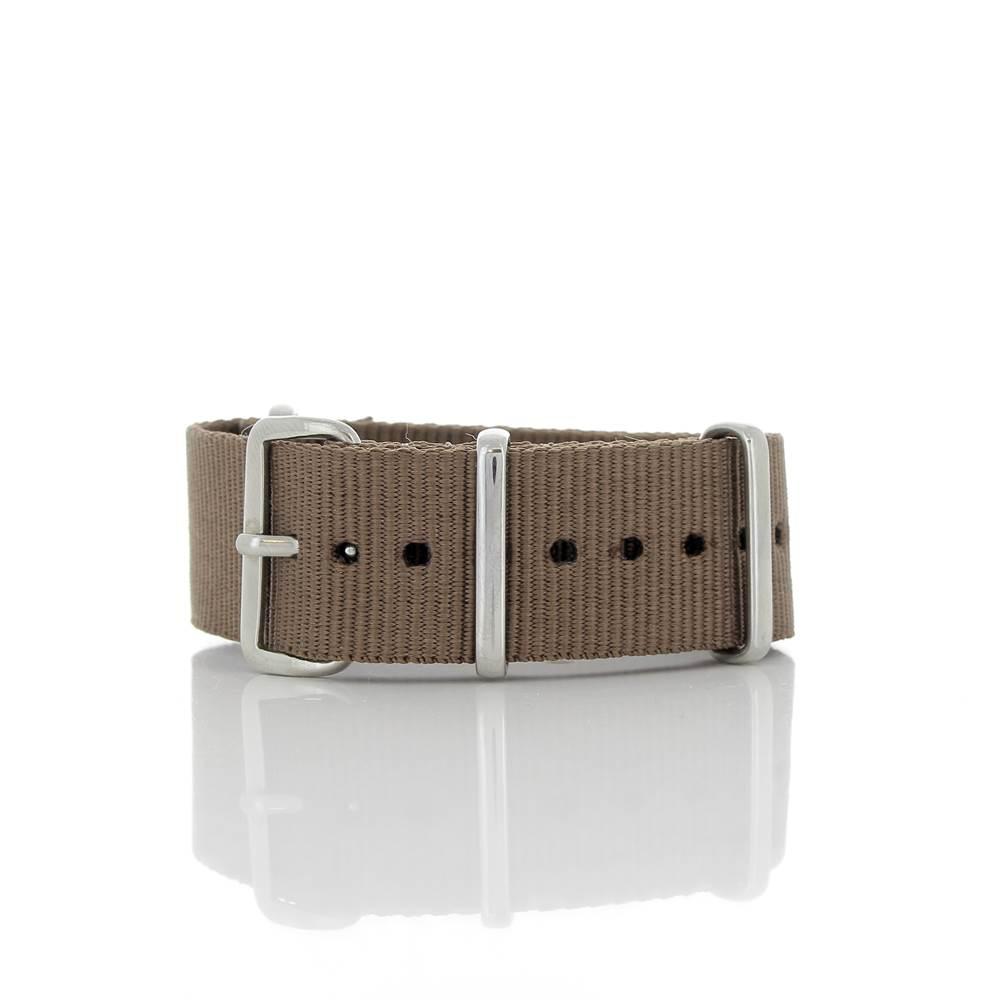 Bracelet Nato marron 20mm