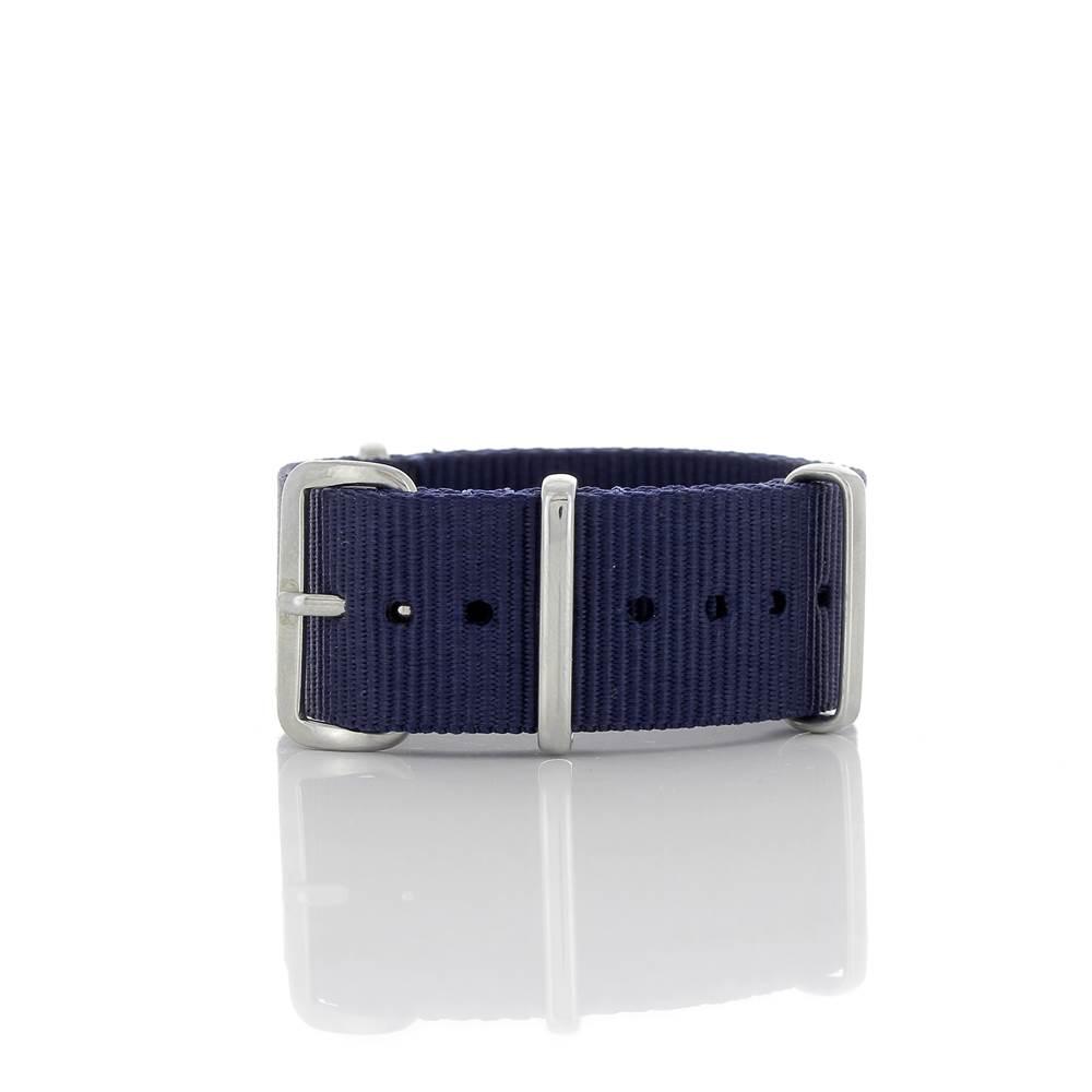 Bracelet Nato bleu marine 20mm