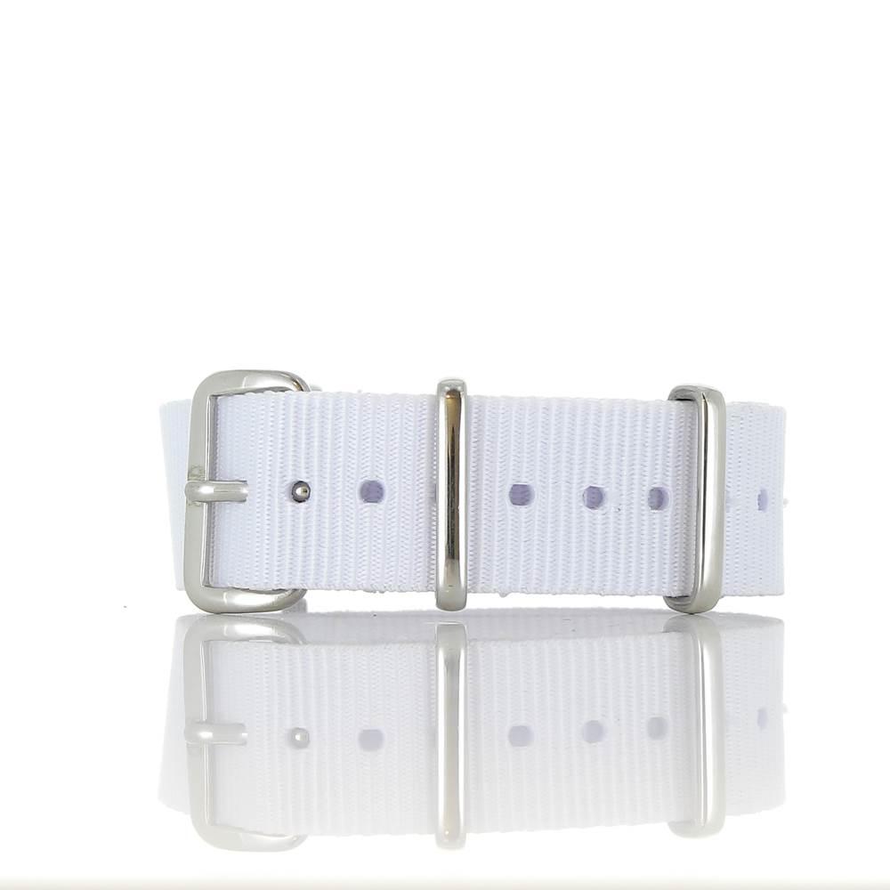 Bracelet Nato Blanc 18mm