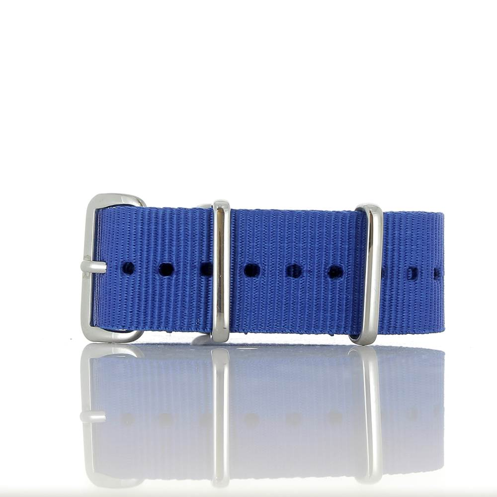 Bracelet Nato bleu roy 20mm
