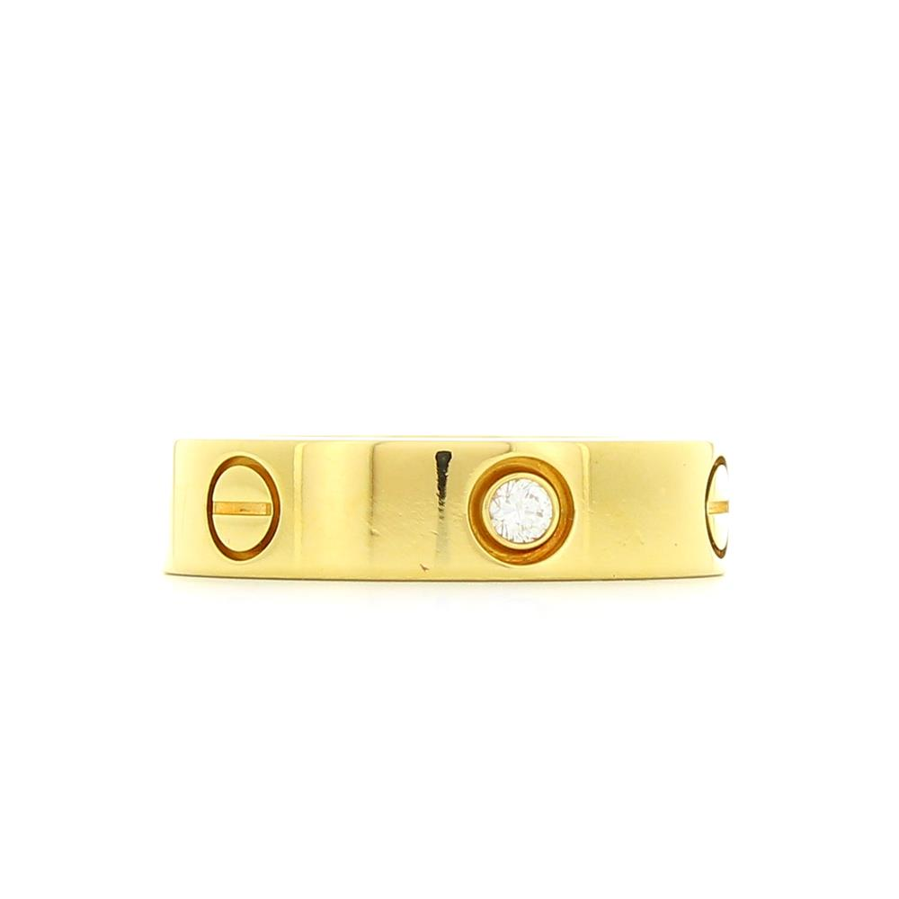 bague love en or jaune et 3 diamants d 39 occasion. Black Bedroom Furniture Sets. Home Design Ideas