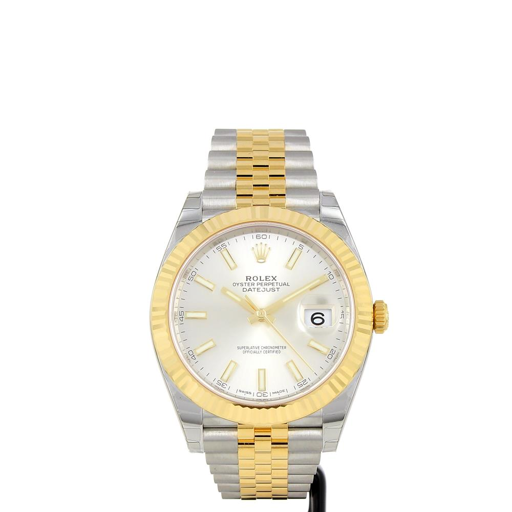 montre rolex datejust 41mm rolesor jaune 126333 d 39 occasion. Black Bedroom Furniture Sets. Home Design Ideas
