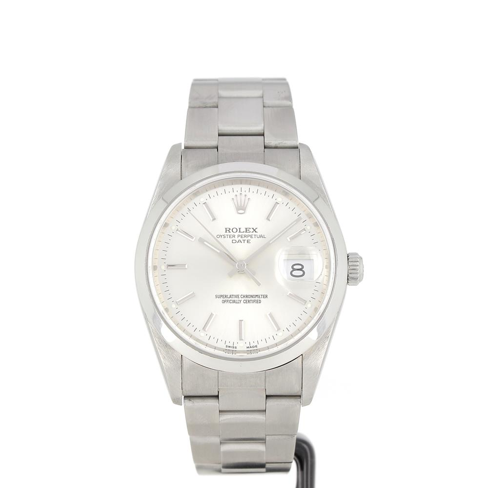 Montre Rolex Oyster Perpetual Date cadran silver 15200 d'occasion