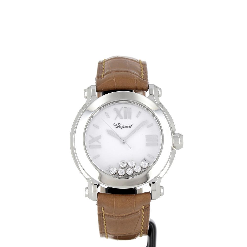 Montre Chopard Happy sport happy diamonds acier reference 278475-3001 d'occasion