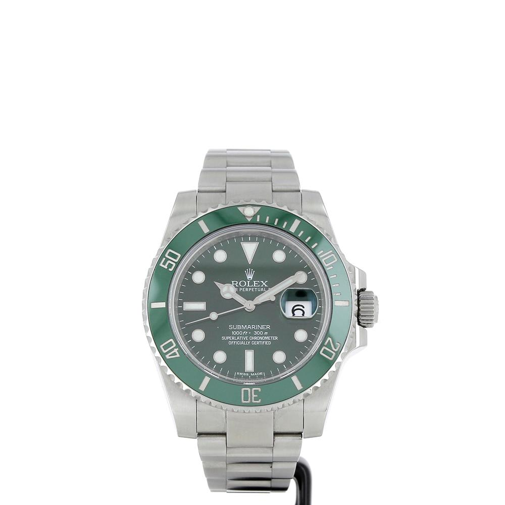 montre rolex oyster perpetual submariner date 116610lv hulk c ramique d 39 occasion. Black Bedroom Furniture Sets. Home Design Ideas