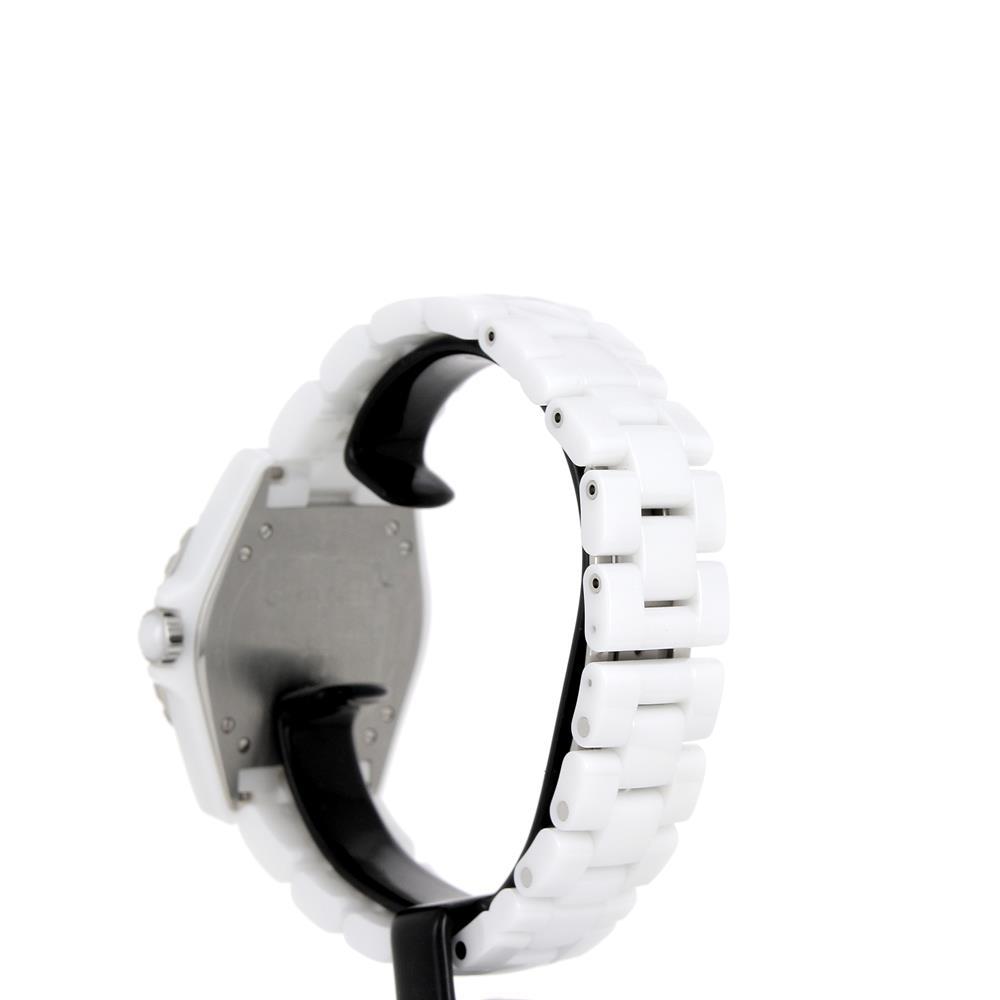 Montre chanel j12 365 h3837 c ramique blanche neuve prix for Prix carabine 12 mm neuve