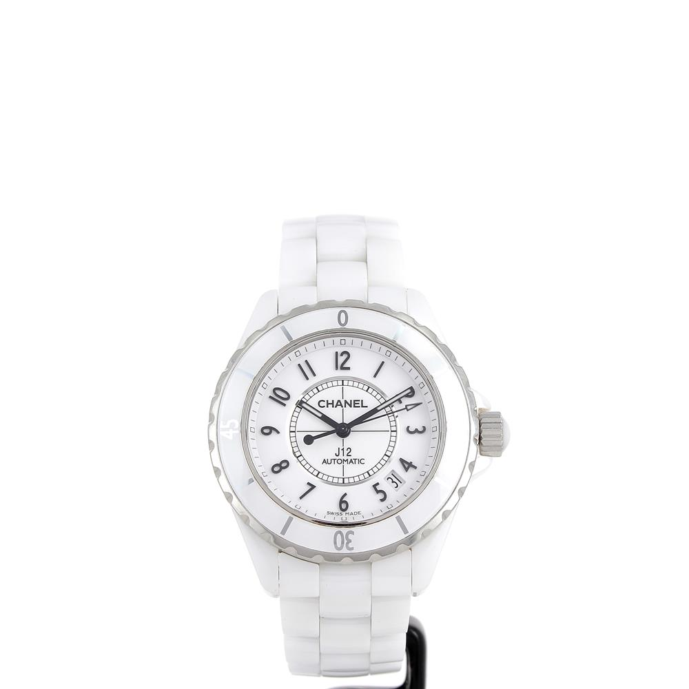 cdc573b62e7 Montre Chanel J12 38mm H0970 céramique blanche automatique d occasion