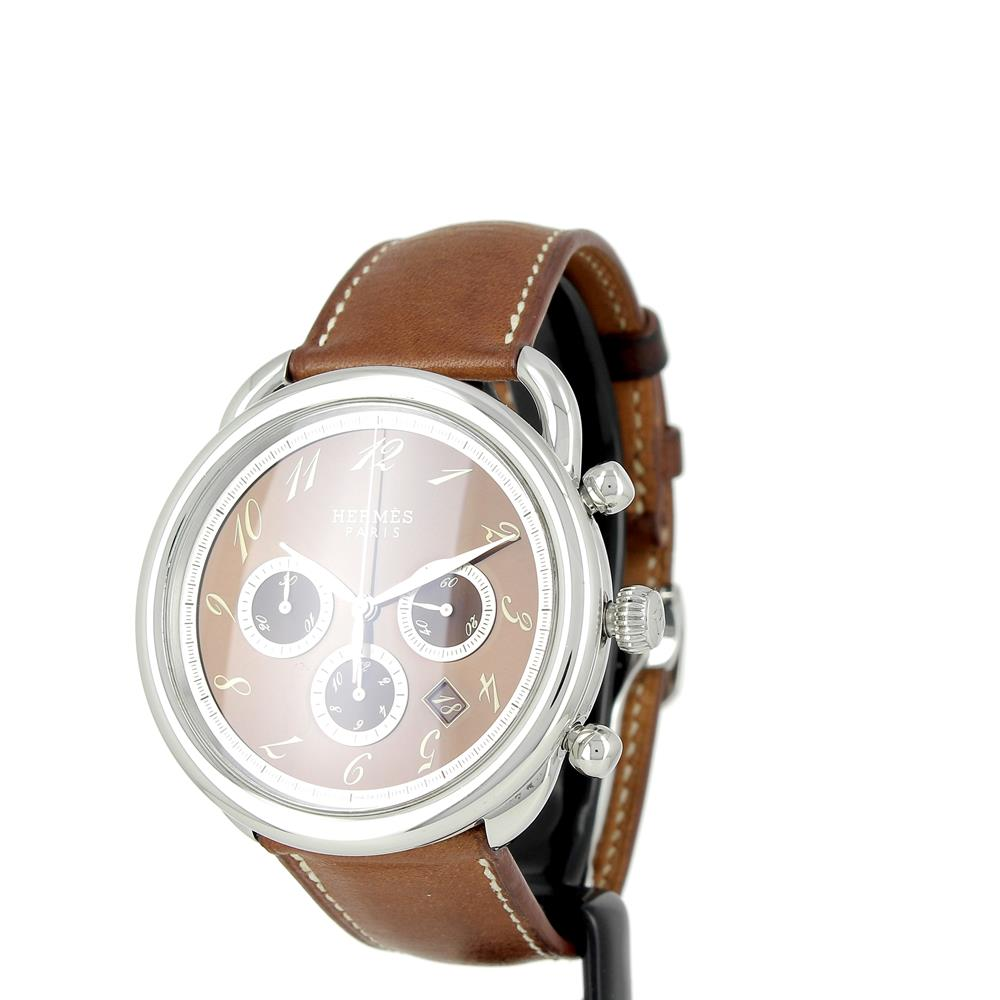 3e4cd5c87019 Montre Hermes Arceau TGM Chronographe automatique d occasion