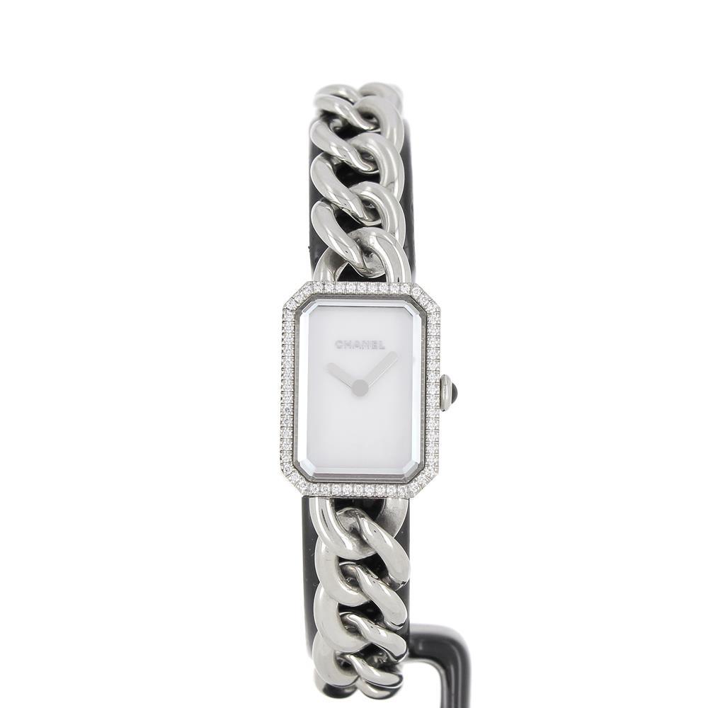 Montre Chanel Premiere chaine acier nacre sertie diamants H3253 neuve à prix d'occasion