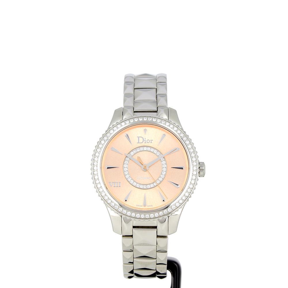 Montre Dior VIII acier cadran rose CD152510M002 neuve a prix d'occasion
