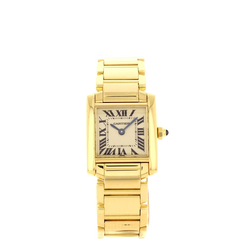 Montre Cartier Tank Francaise Petit Modele or jaune reference W50002N2 d'occasion